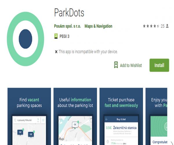 Voľné parkovacie miesta v centre Nitry nájdete pomocou aplikácie
